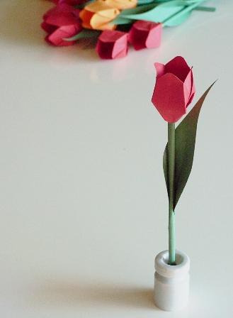ハート 折り紙 折り紙 チューリップ 花束 : plaza.rakuten.co.jp