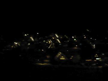 展望台より白川郷ライトアップ