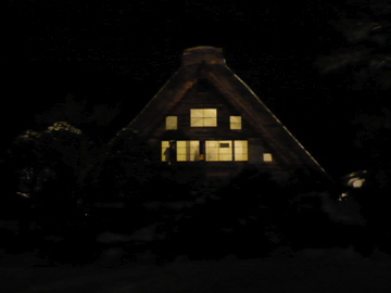 白川郷ライトアップ2