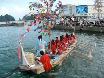 勝浦八幡神社・例大祭:櫂伝馬行事