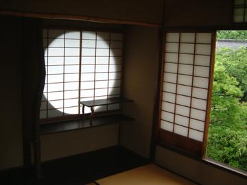 蘆庵の円窓@渉成園