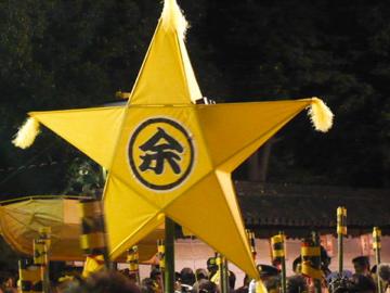 提灯祭り:星形巨大提灯