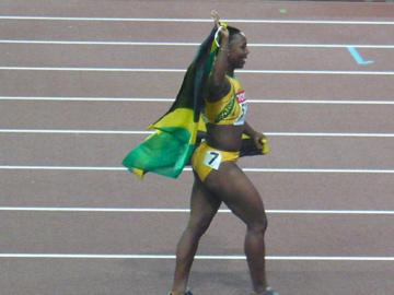 世界陸上・女子100mで優勝したキャンベル選手