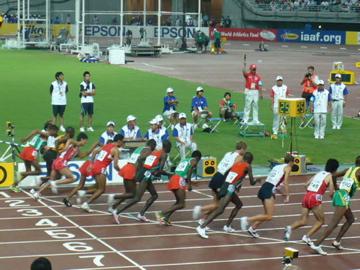 世界陸上・男子10,000mスタートライン