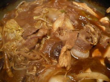 ぼたん鍋After