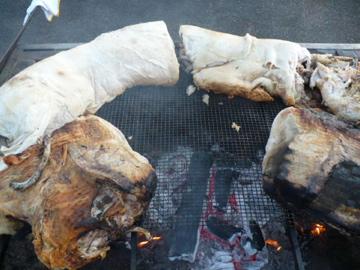 豚の丸焼き@収穫祭