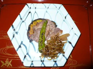 卯庵・猪肉焼き
