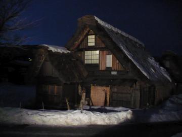 白川郷ライトアップ1
