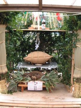 高千穂夜神楽の祭壇
