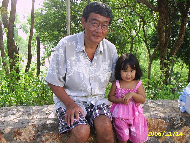 papa with kai-chan at pattaya