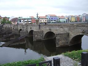 チェコ最古の石橋(ピーセク:ト...