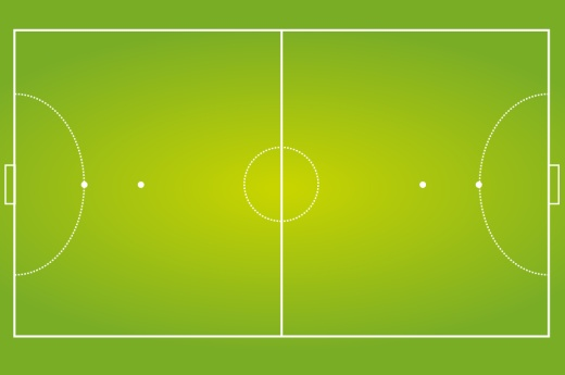 コートの長さ(タッチライン)は25~42メートル(国際試合では38~42... Disfruto