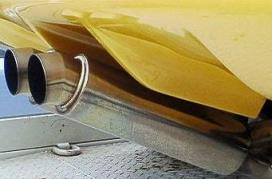 ランボル・デイアブロ黄色マフラーサイド