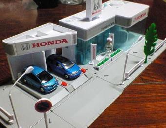 トミカタウン Honda Cars 組み立てました。