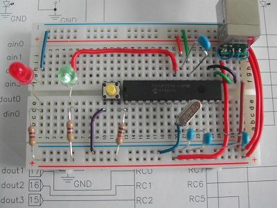 GAINER-miniブレッドボード組み付け例