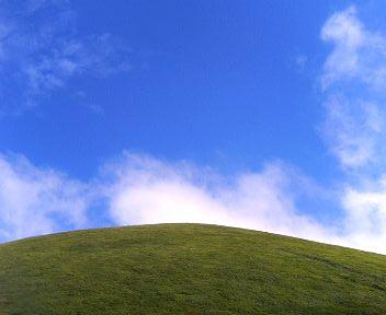 大室山と空