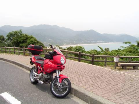 鳥取岩美から日本海を見る