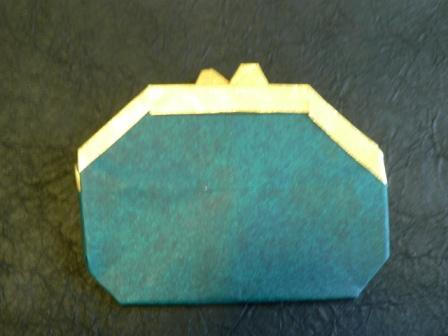 クリスマス 折り紙:折り紙 財布-romancey.net