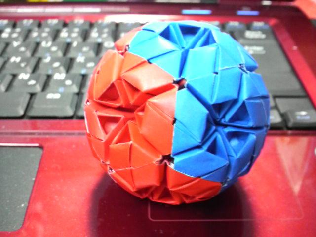 すべての折り紙 折り紙 くす玉 ユニット : ... ユニット折り紙の世界【くす玉