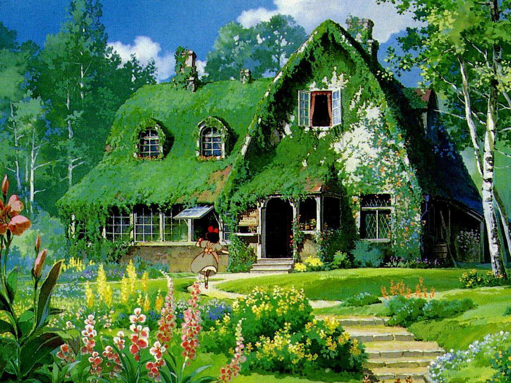 となりのトトロの自然の緑が美しい画像