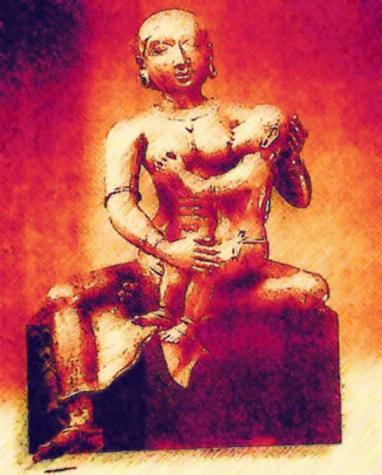 ベビークリシュナを抱くヤショーダ