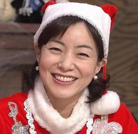 サンタ姿の八木亜希子