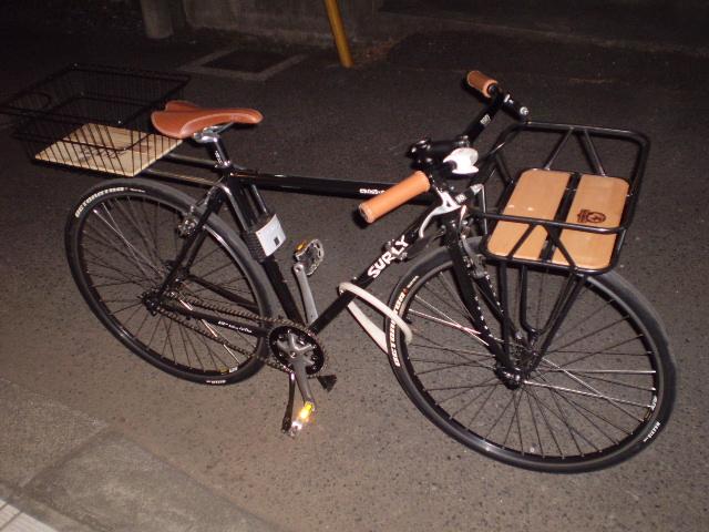 自転車の クロス 自転車 カゴ : HAMAXのシステムなので、ステー ...