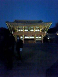 夕方の鶴岡八幡宮