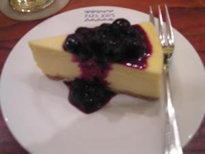 パパジョーンズのブルーベリーチーズケーキ