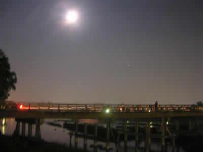 渡月橋と中秋の名月