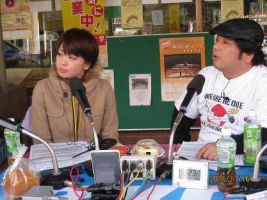 二人のトーク RKCの若手女子アナ有吉都さんと、淀家萬月さん淀家萬月さんは、「住みます芸人」とし
