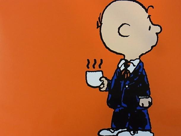 コーヒーを持つチャーリーブラウン壁紙