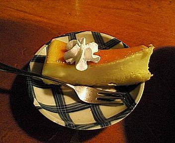 ちょっぴり塩味のきいたチーズケーキ