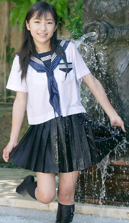 小林さり恋空桐嵯梨セーラー服女子高生女子中学生
