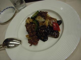 ホテル・シーサイド江戸川・牛肉の炒め物