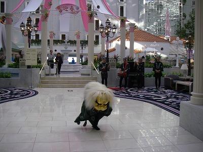 ベイホテル東急・デラックスファミリールーム・獅子舞