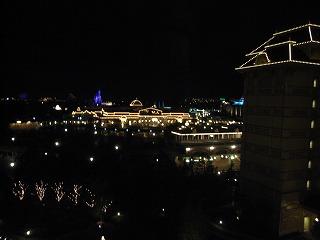 ディズニーランドホテル2009・眺望夜景