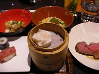 ベイ東京ヒルトン・ザ・スクエア パンエイジアン料理 フォレストガーデン1食目