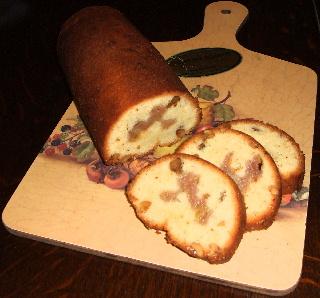 バナナとクルミの焼き菓子