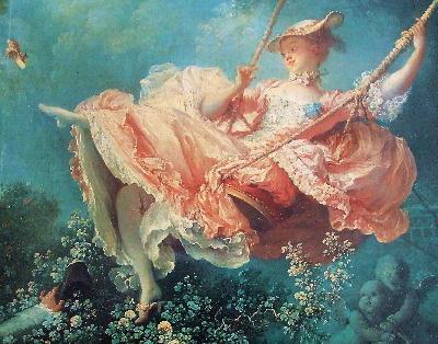 優雅な薔薇ロココとポンパドゥール夫人のドレス