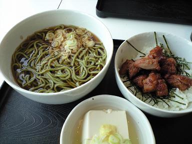 煎茶蕎麦&ミニとりやき丼