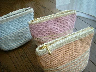 可愛くて便利な編み物ポーチ♡かぎ針編み♡作り方&アイデア集♡