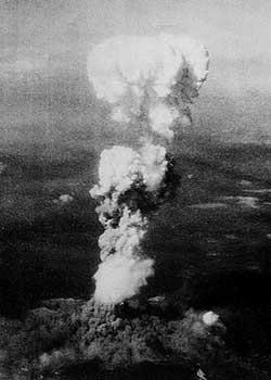 広島原子雲 広島市への原子爆弾投下後のきのこ雲   チューさんの今昔ばなし