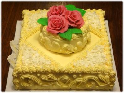 ウェディングケーキ(私作)