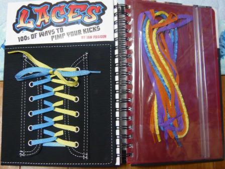 何の本かと申さなくても表紙で靴紐の結び方の本だと分かると思います。