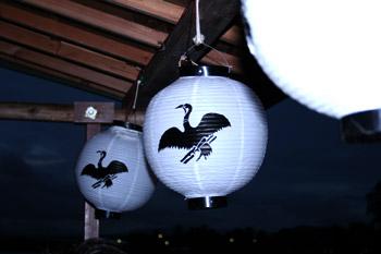 京都の嵐山の屋形船の提灯はLED