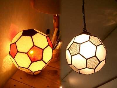 チットのステンドグラス サッカーボール2種