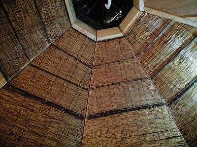 籾殻ハウス天井
