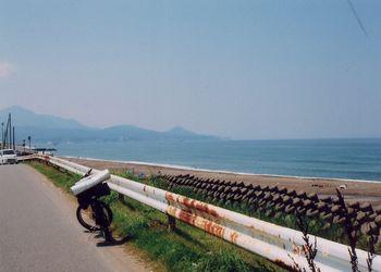 柏崎の海辺
