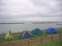 難民キャンプin岩船